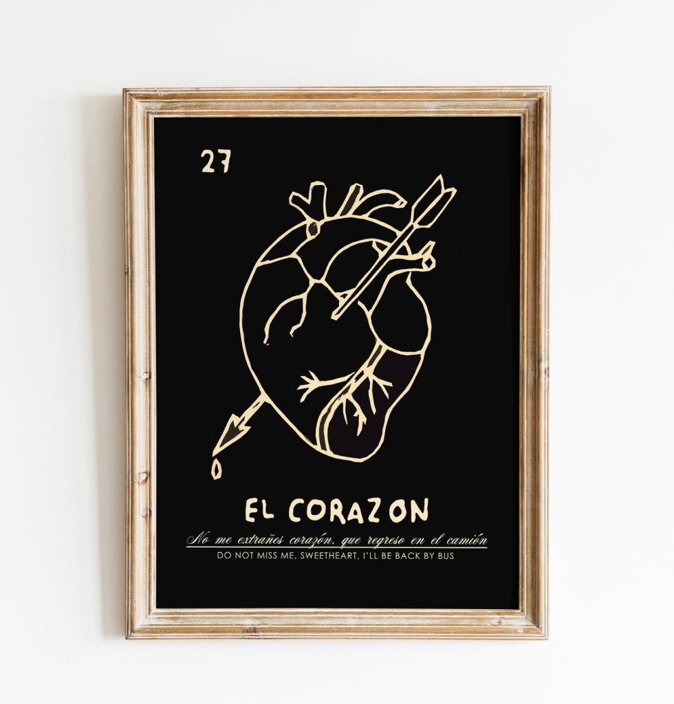 EL CORAZON by Roam and Chroma, inspired by Mexico's La Loteria.
